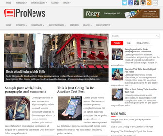 ProNews Blogger Template