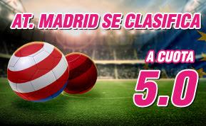 wanabet supercuota 5 Atletico se clasifica final champions league codigo JRVM + 150 euros 3 mayo