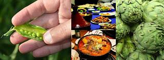 Algerian jelbana stew tajine with artichokes and green peas is a classic African Algerian stew recipe.