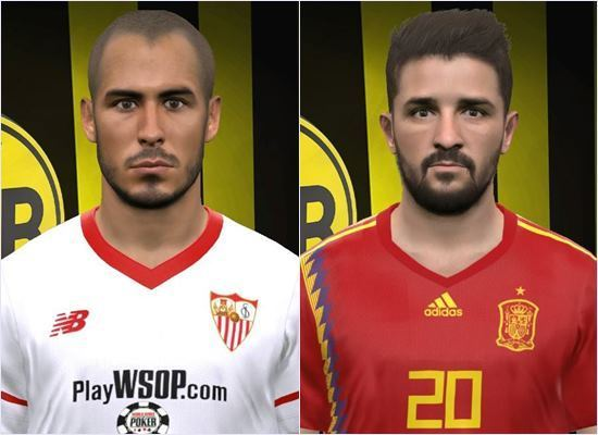 Guido Pizarro & David Villa Face PES 2017