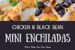 Chicken & Black Bean Mini Enchiladas