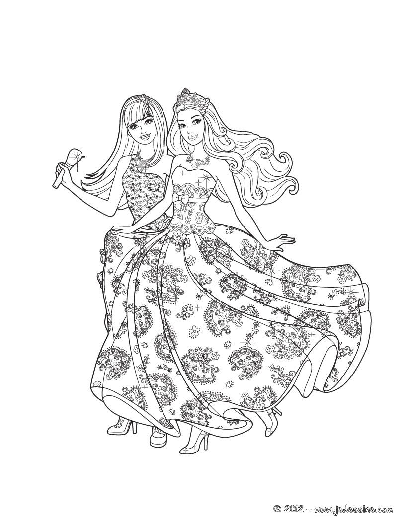 barbie princess fairy mermaid holiday  ภาพระบายสี บาร์บี้