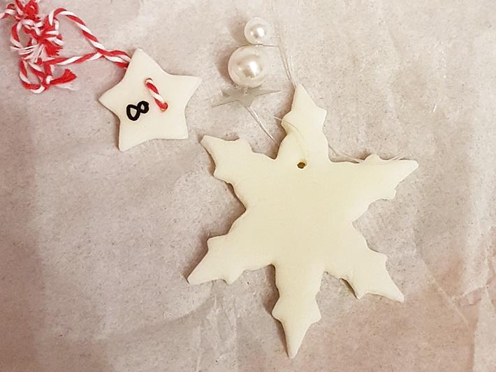 Weißer Stern aus Modelliermasse - DIY