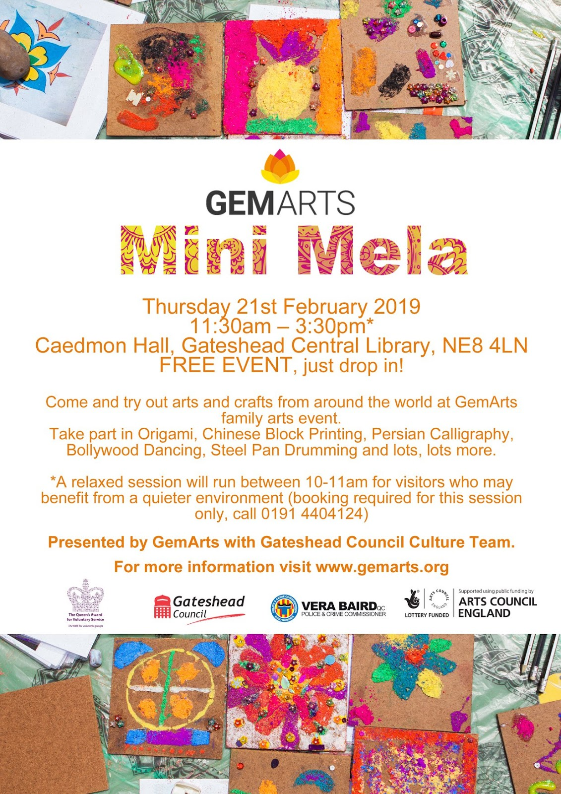 Gateshead ALive - 10 Events For Tweens, Teens & Little Ones This Spring  - GemArts Mela