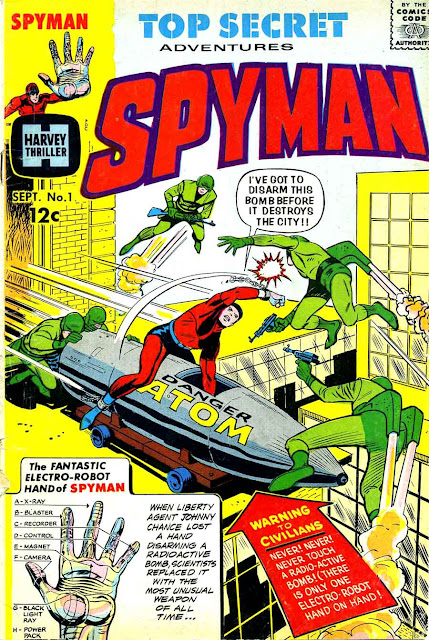 Spyman v1 #1, 1966 silver age comic book cover - 1st Spyman.