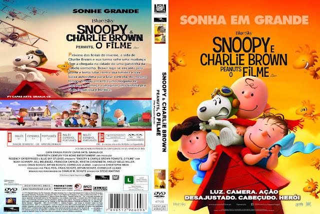 Capa DVD Snoopy e Charlie Brown Peanuts O Filme