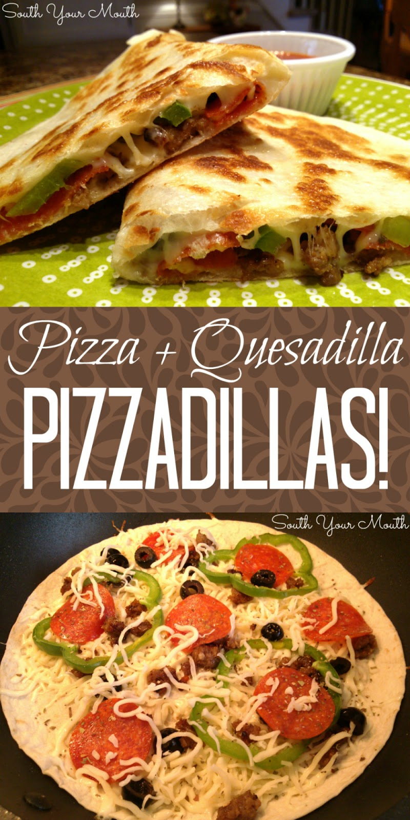 Make these pizza quesadillas for all the flavors of pizza made quickly like a quesadilla.