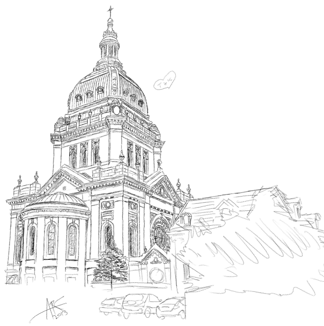 weasels go narf: Daily Draw: Basilica of St. Mary