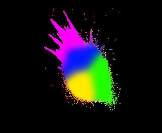 holi colour splash png