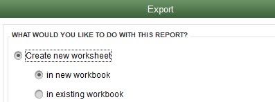 new sheet excel export