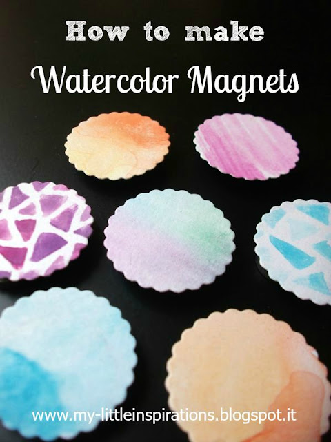 Watercolor Magnets - My Little Inspirations