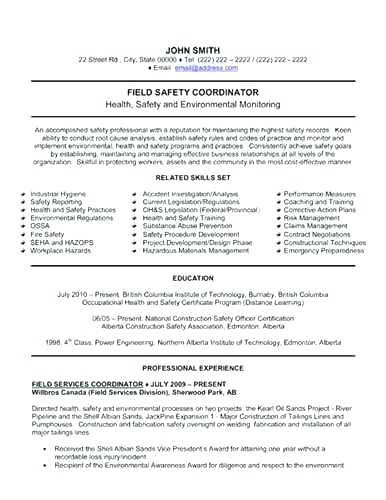 Safety Officer Resume Templates 2019 Resume Sample - Lebenslauf