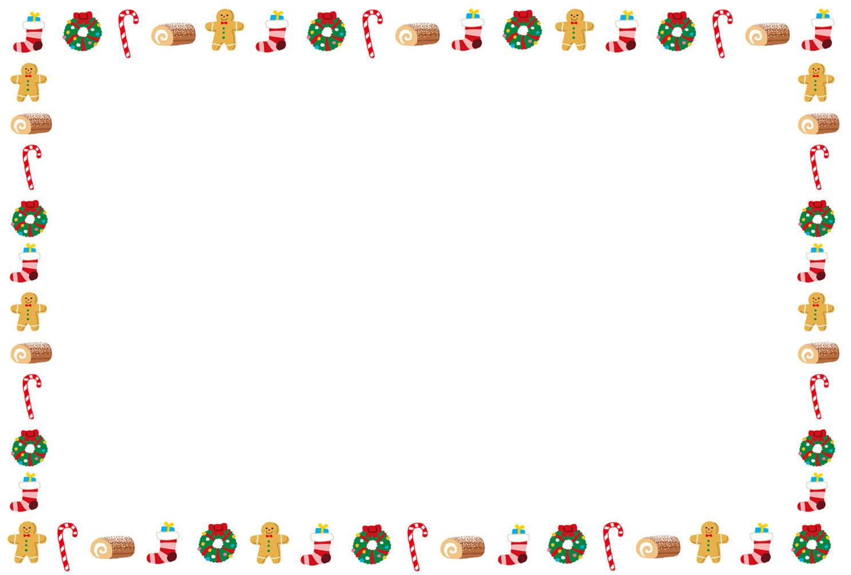 クリスマスカードのテンプレート「お菓子とプレゼント」 | かわいい