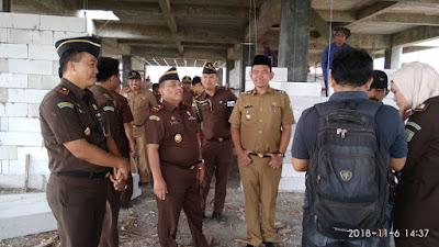 Kajati Lampung Tinjau Pembangunan Gedung Kejari Pringsewu