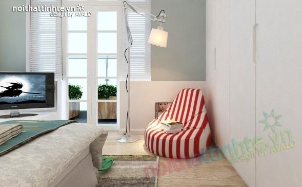 Trang trí nội thất phòng ngủ cho căn hộ 70m2