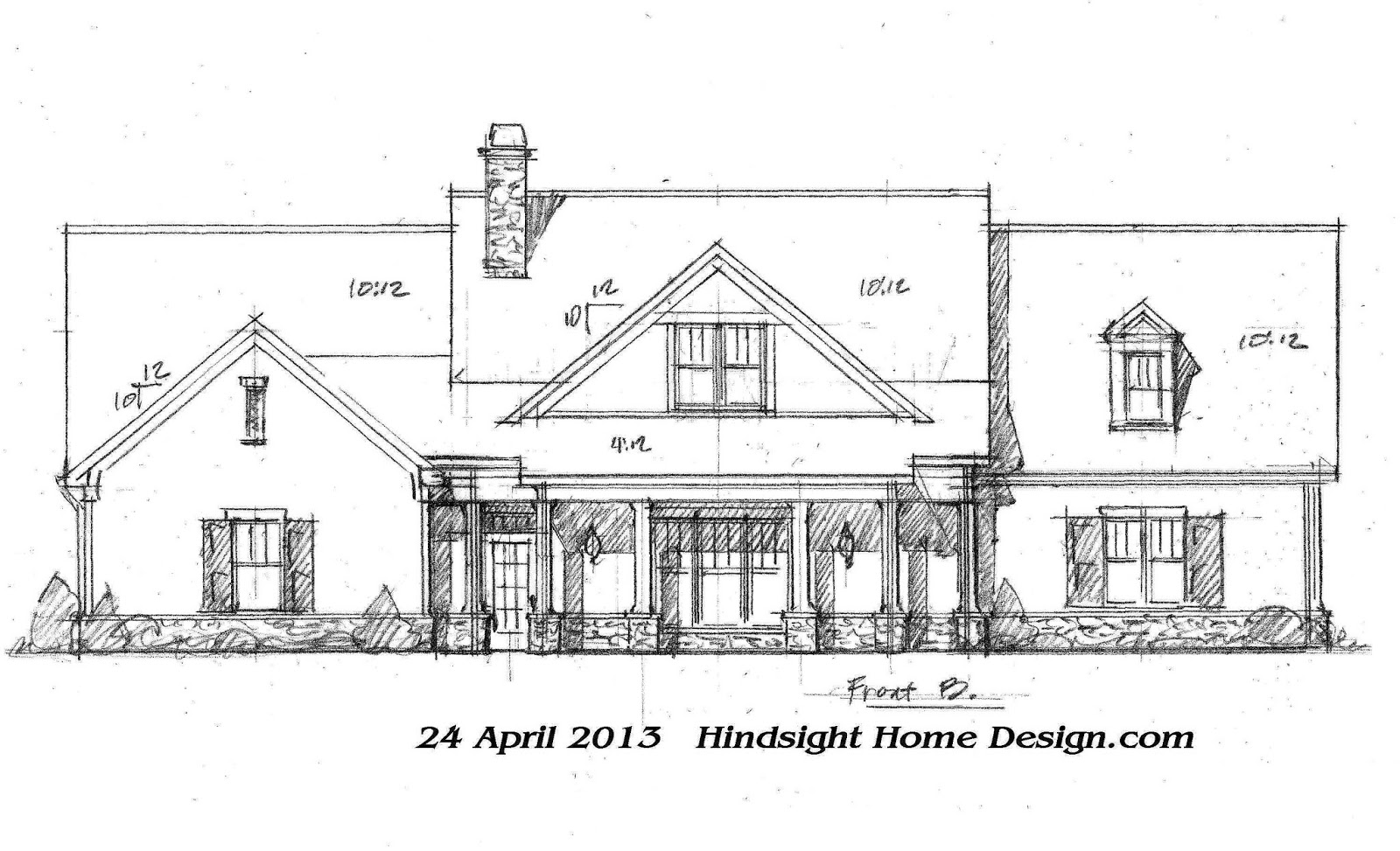 Hindsight home design for Exterior house drawing