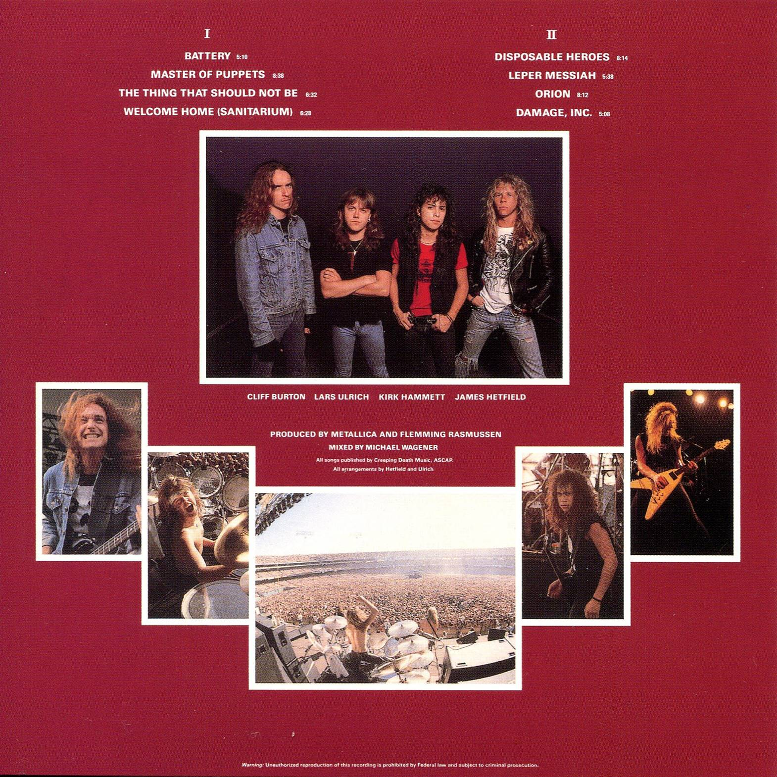 Rockronolog 237 A 1986 Master Of Puppets Metallica