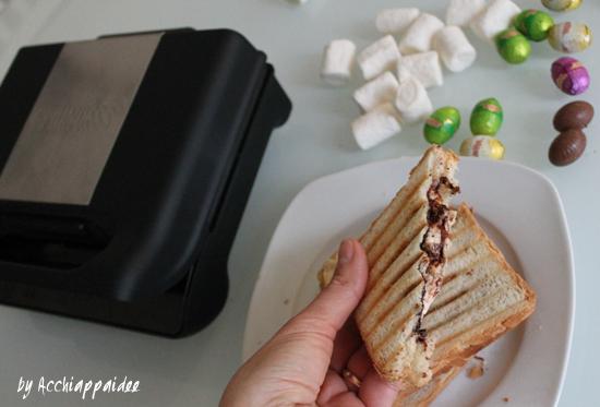 Toast al cioccolato e marshmallow sul grill