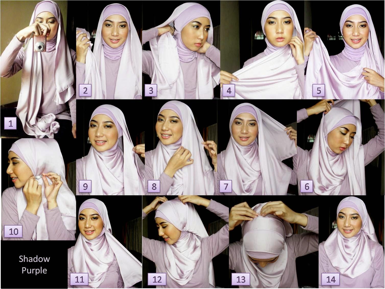 Tutorial Hijab Pashmina Untuk Sehari Hari Wajah Bulat Hijab