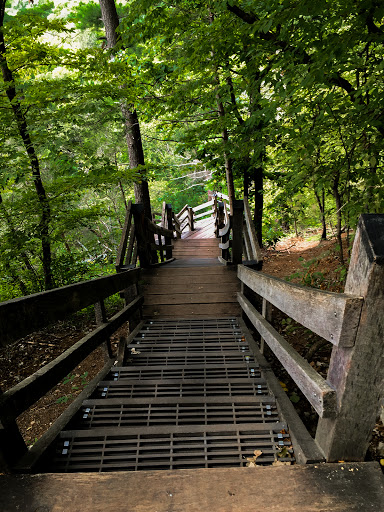 stairs from overlook to Willow River Falls