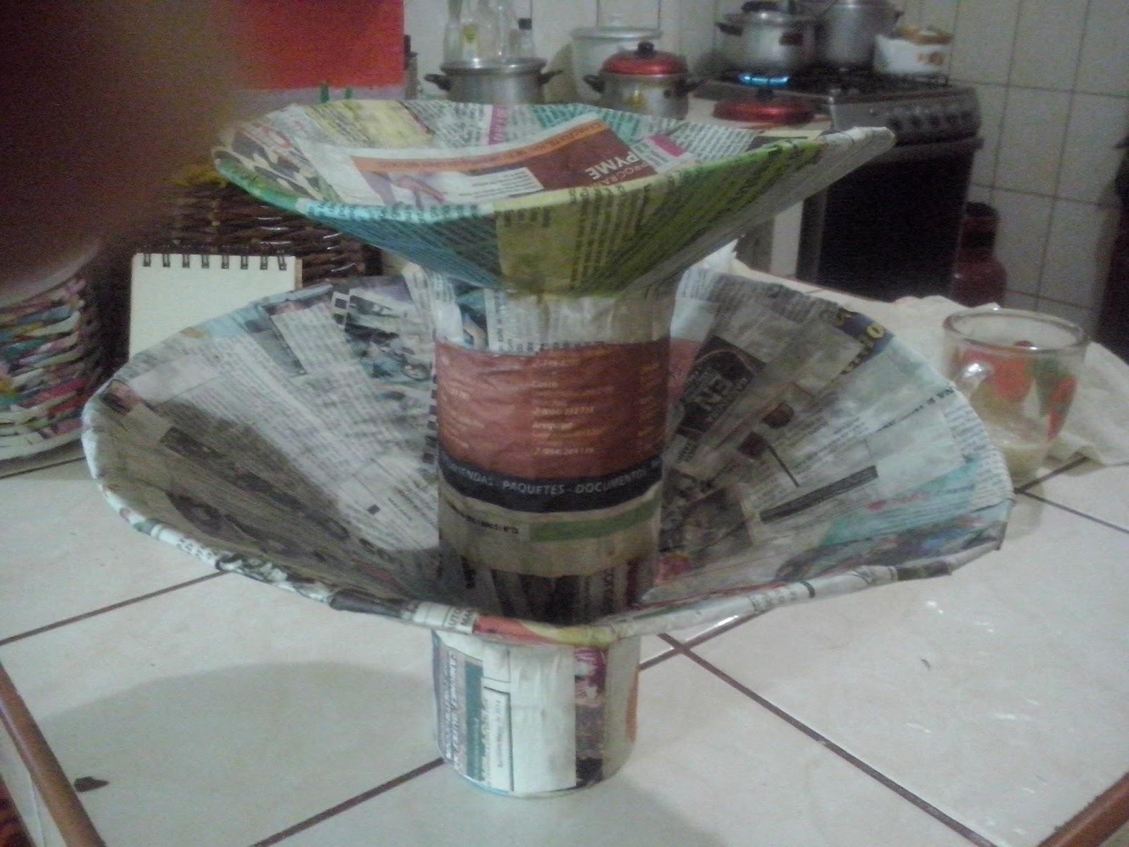 Manualidades Utiles Para El Hogar Frutero De Carton Reciclado