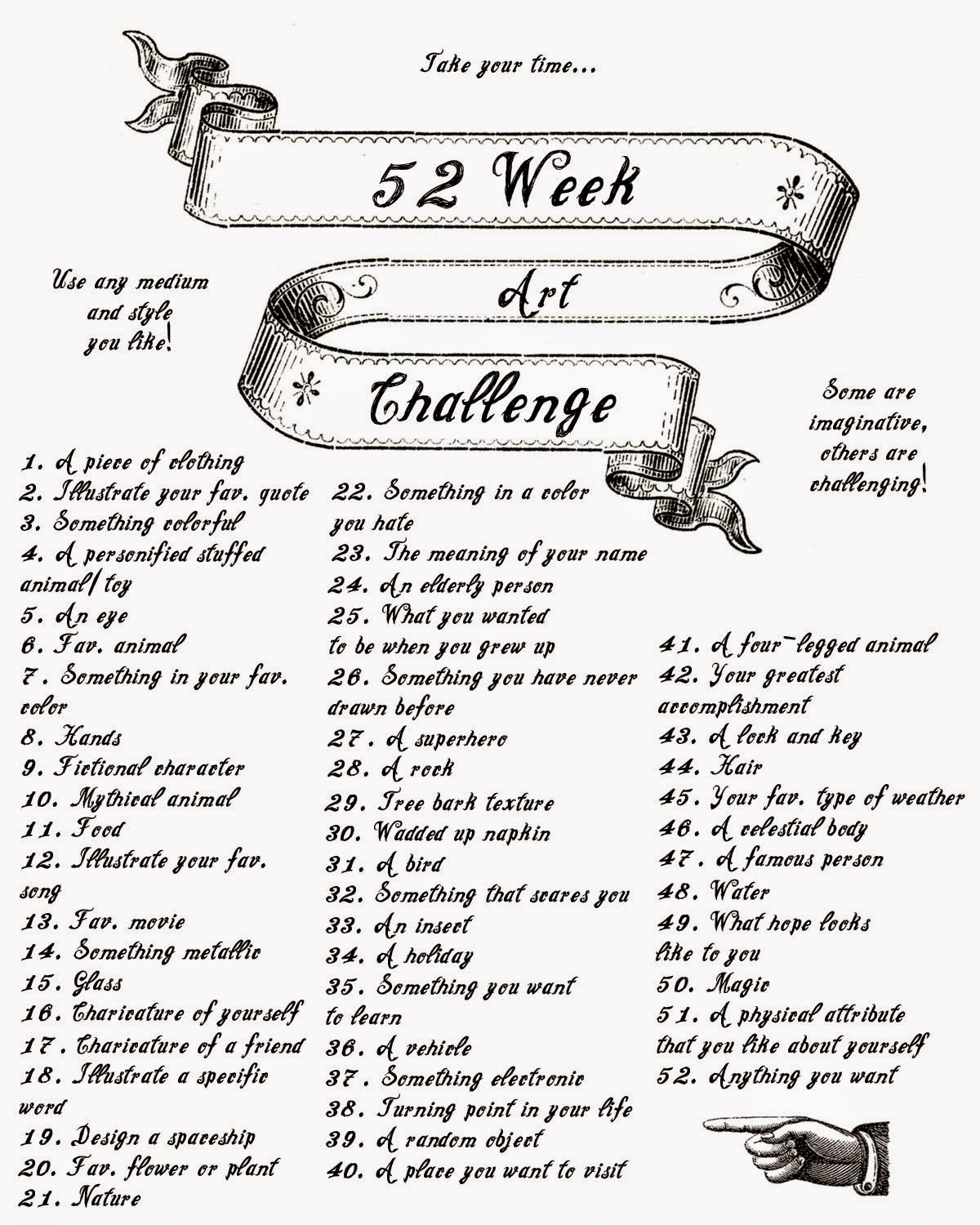 This is a picture of Witty Weekly Drawing Challenge
