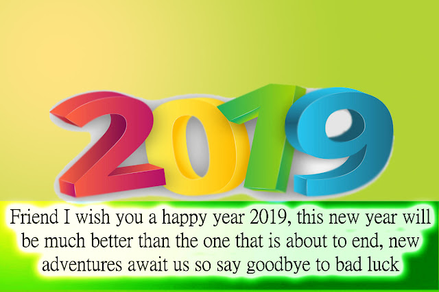 Happy new year 2019 to share in Whats App groups and social networks