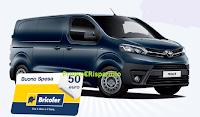 Logo Vinci con lo shopping PAYBACK IN BRICOFER: vinci 100 buoni spesa da 50€ e 1 Toyota Proace