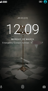 Lock Screen message Lenovo k6 Power