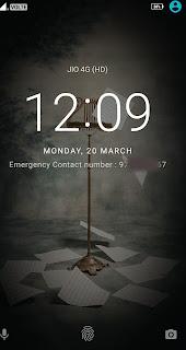Lock Screen message Lenovo k6 Power
