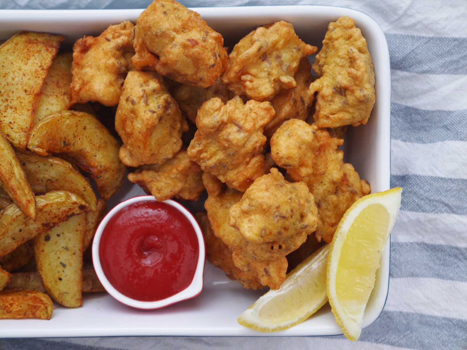 creole muslim Spicy fish nuggets with creole potato wedges  all content including recipes and photos are the property of this muslim girl bakes, .