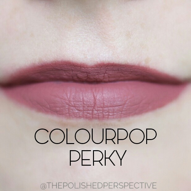 colourpop perky swatch