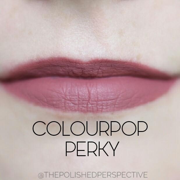 colourpop perky swatch