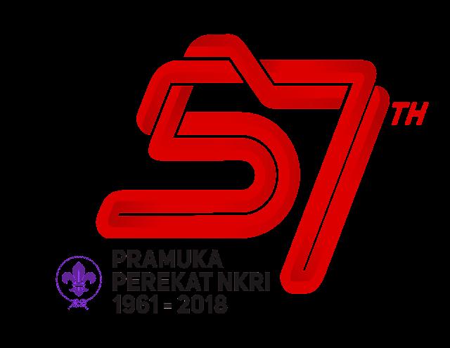 Logo Resmi Hari Pramuka ke-57 Tahun 2018