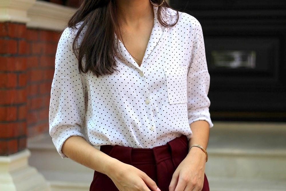 polka dot pyjama shirt new look