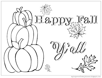 free fall pumpkin coloring page
