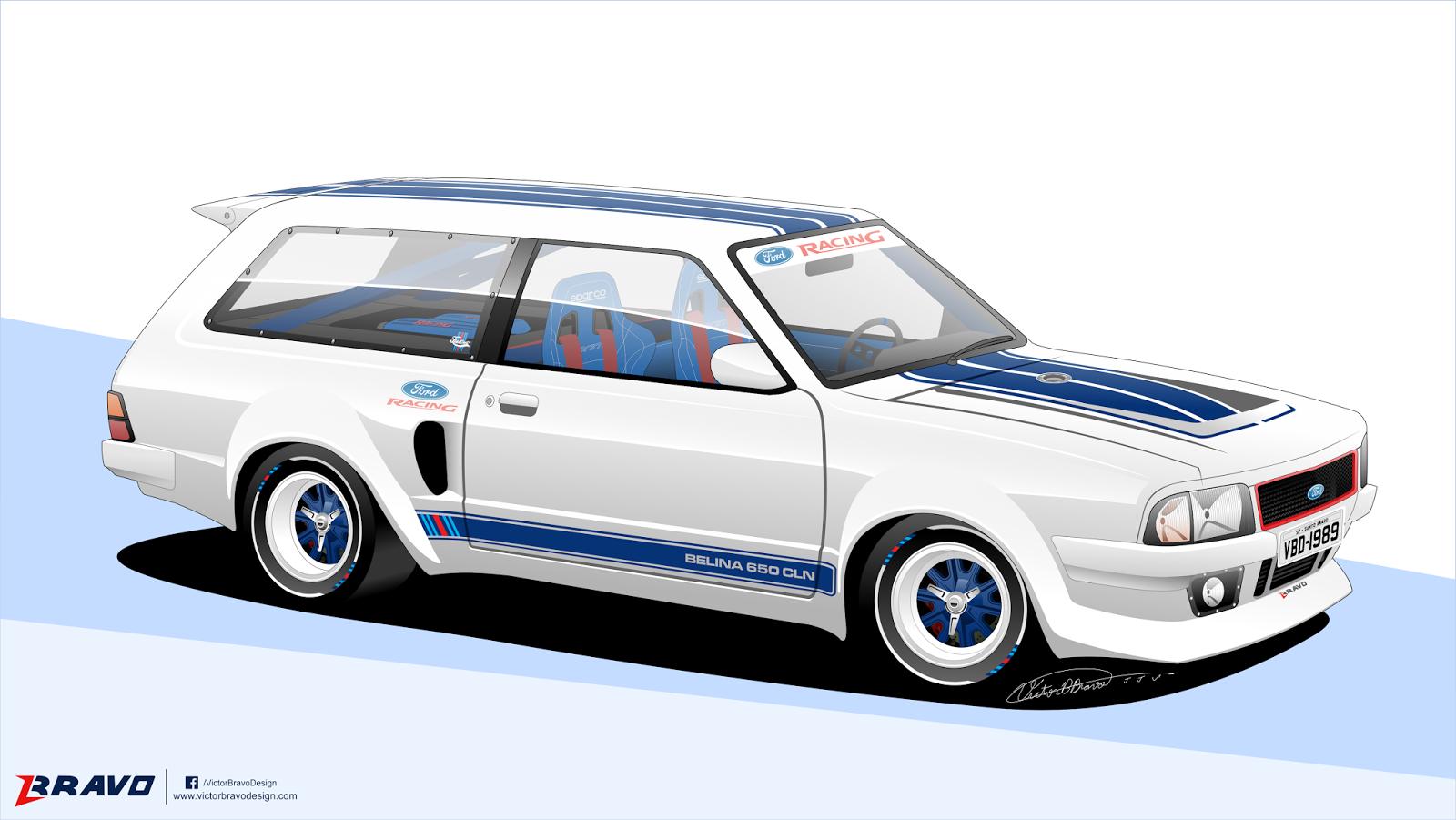 """Imagem mostrando o desenho da frente da Ford Belina II """"650 CLN"""""""