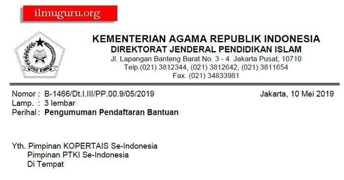 Pendaftaran Bantuan dan Beasiswa PTKI