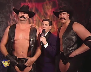 WWF / WWE - Wrestlemania 13 - Todd Pettengill interviews The New Blackjacks