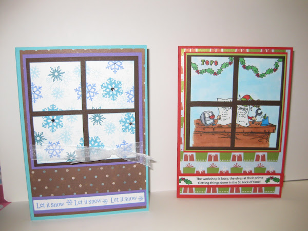 Windowpane card for the holidays