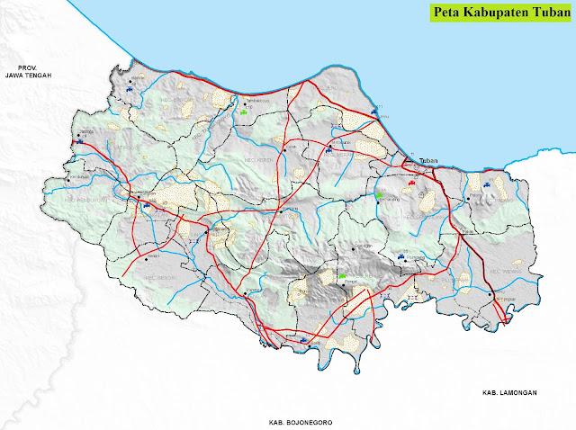 Peta Kabupaten Tuban HD