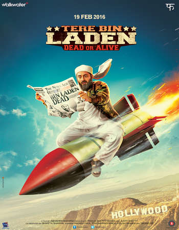 Poster Of Tere Bin Laden Dead or Alive 2016 Hindi 300MB HDRip 480p Watch Online Free Download Worldfree4u