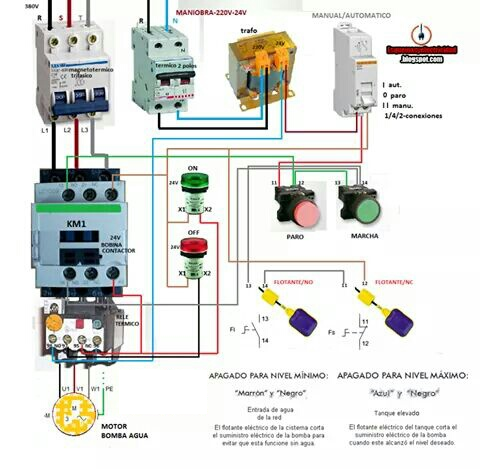 water pump motor wiring diagram electrical blog rh elec bl0g blogspot com single phase water pump motor wiring diagram Two Speed Motor Wiring Diagram