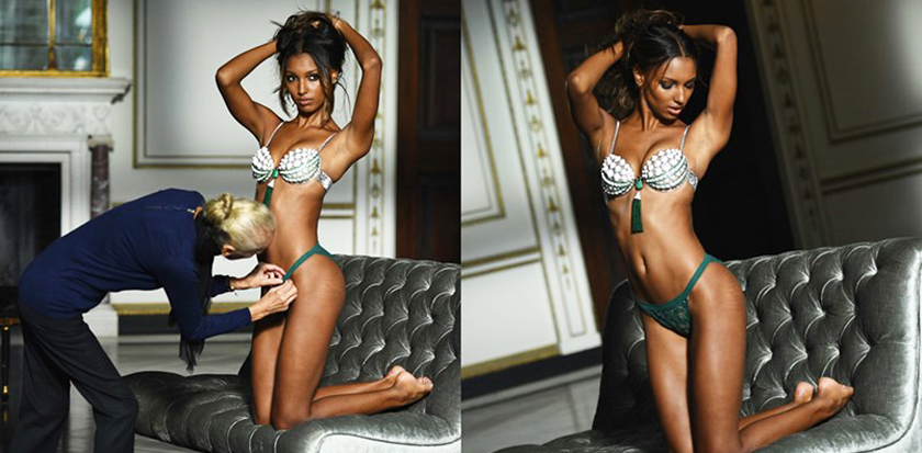 Jasmine Tookes Victoria's Secret Underwear Photoshoot Campaign Fit Body Toned with Stretch Marks Natural