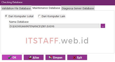 Maintenance Database EASY6 - ITSTAFF.web.id