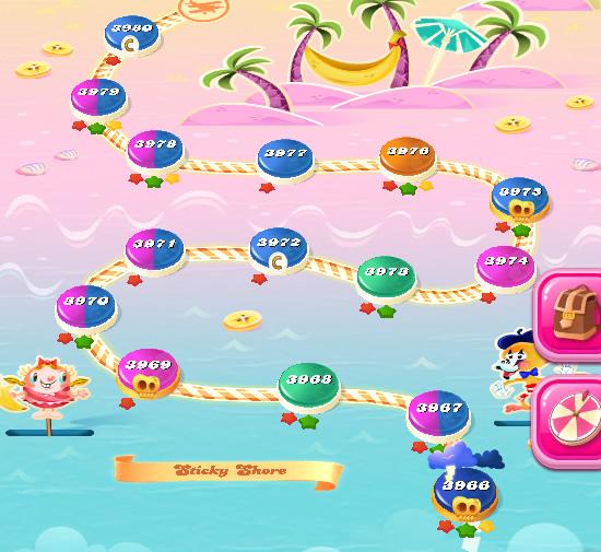 Candy Crush Saga level 3981-3995