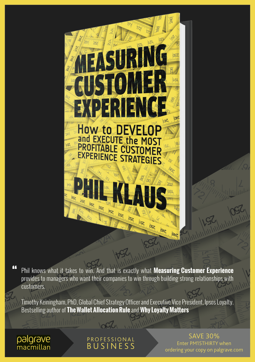 http://www.amazon.com/Measuring-Customer-Experience-Profitable-Strategies-ebook/dp/B00OBMY5H2/ref=tmm_kin_title_0?_encoding=UTF8&sr=&qid=