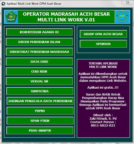 Aplikasi Operator Madrasah Multi Link Job Revisi Guru