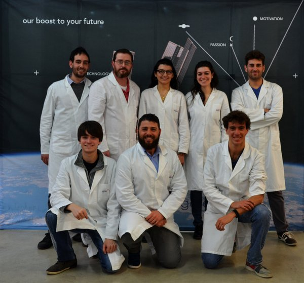 "The Argotec team that designed and built the payload ""Thermal Exchange"" http://"