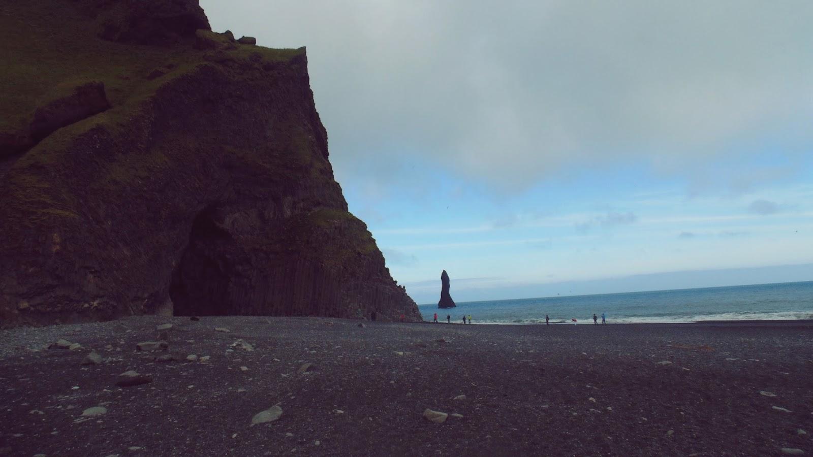 jaskinia Halsanefshellir, Reynisfjara, czarna plaża, Islandia